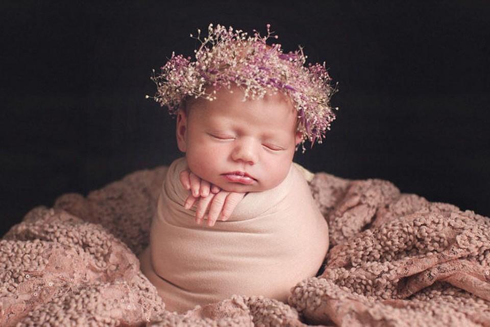 可爱!襁褓新生儿的萌态写真【组图】