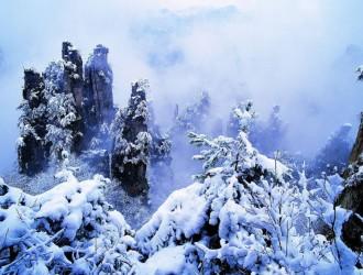 张家界雪景你见过吗!美到爆!!